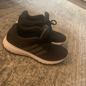 Women's adidas cloudfoam shoes black size 7